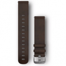 Garmin ranneke 245/645/Vivomove/Venu nahka dark brown