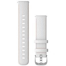 Garmin ranneke Vivomove 3S/Vivoactive 4S nahka white