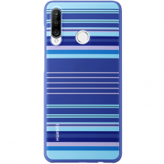 Huawei P30 Lite TPU Covers Blue Lines