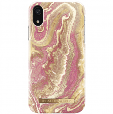 Ideal Fashion Case iPhone Xr golden blus marble
