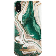Ideal Fashion Case iPhone Xr golden jade marble