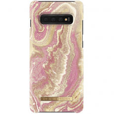 Ideal Fashion Case Galaxy S10+ golden blush marble