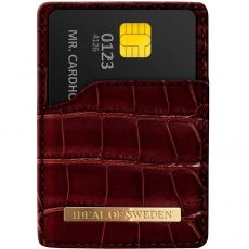 iDeal Magnetig Card Holder croco claret