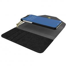 Ideal Mayfair Clutch Velvet iPhone Xr black