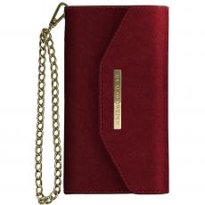 Ideal Mayfair Clutch Velvet iPhone Xr red