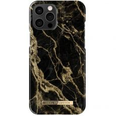 iDeal Fashion Case iPhone 12 Pro Max golden smoke marble