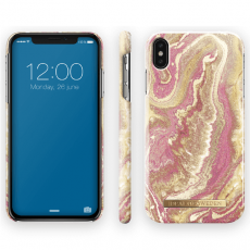 Ideal Fashion Case iPhone Xs Max golden blush marble