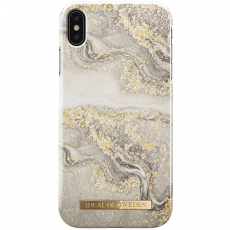Ideal Fashion Case iPhone Xs Max sparkle greige marble