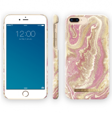 Ideal Fashion Case iPhone 6/6S/7/8 Plus golden blush marble