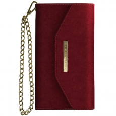Ideal Mayfair Clutch Velvet iPhone 6/6S/7/8 red