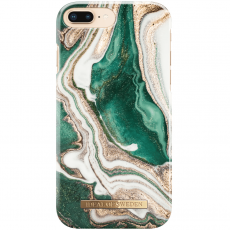 Ideal Fashion Case iPhone 6/6S/7/8 Plus golden jade marble