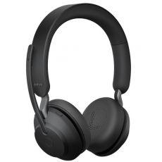 Jabra Evolve2 65 UC Stereo + teline + LINK380C (USB-C-adapterilla) black