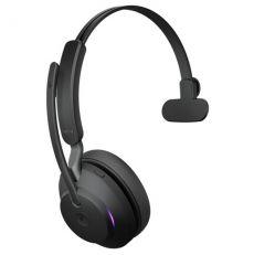 Jabra Evolve2 65 UC Mono + LINK380A (USB-A-adapterilla) black