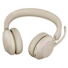 Jabra Evolve2 65 UC Stereo + LINK380A (USB-A-adapterilla) beige