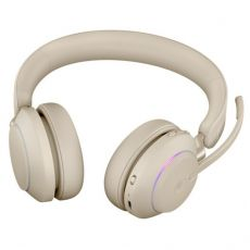 Jabra Evolve2 65 MS Stereo + LINK380A (USB-A-adapterilla) beige