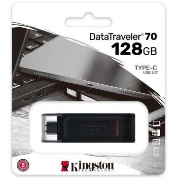 Kingston DataTraveler 70 muistitikku USB-C-liittimellä 128GB