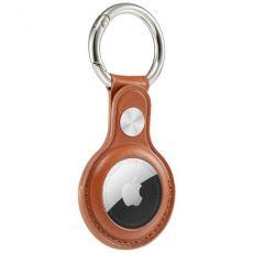 Krusell nahkainen avaimenperä Apple AirTagille brown