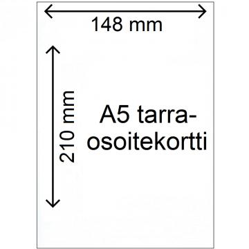 A5-tarraosoitekortti 1000 kpl