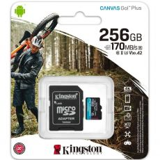 Kingston Canvas GO! Plus micoSD-kortti 256GB