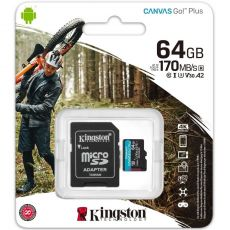 Kingston Canvas GO! Plus micoSD-kortti 64GB