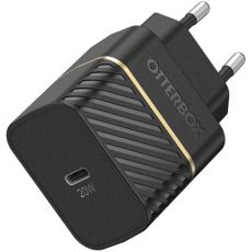 OtterBox seinälaturi 20W USB-C-liitännäisellä kaapelilla black