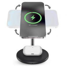 Puro langaton pöytälaturi 2in-1 MagSafe+Qi + USB