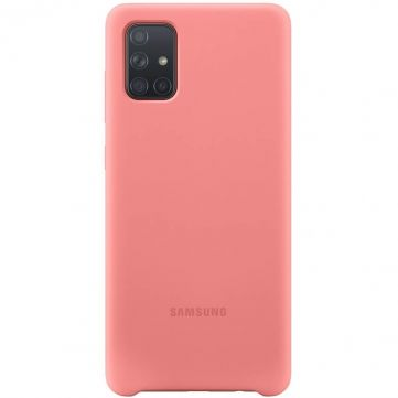 Samsung Galaxy A71 Silicon Cover pink