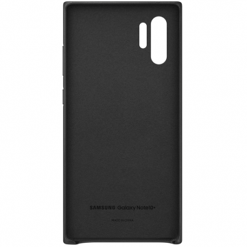 Samsung Galaxy Note 10+ Leather Cover black