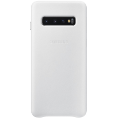 Samsung Galaxy S10 Leather Cover white