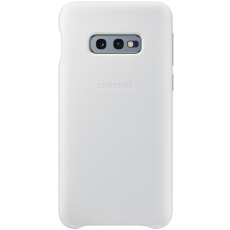 Samsung Galaxy S10e Leather Cover white