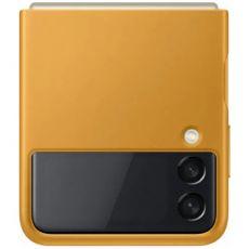 Samsung Galaxy Z Flip3 5G nahkakuori mustard
