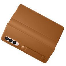 Samsung Galaxy Z Fold3 5G Leather Flip Cover camel